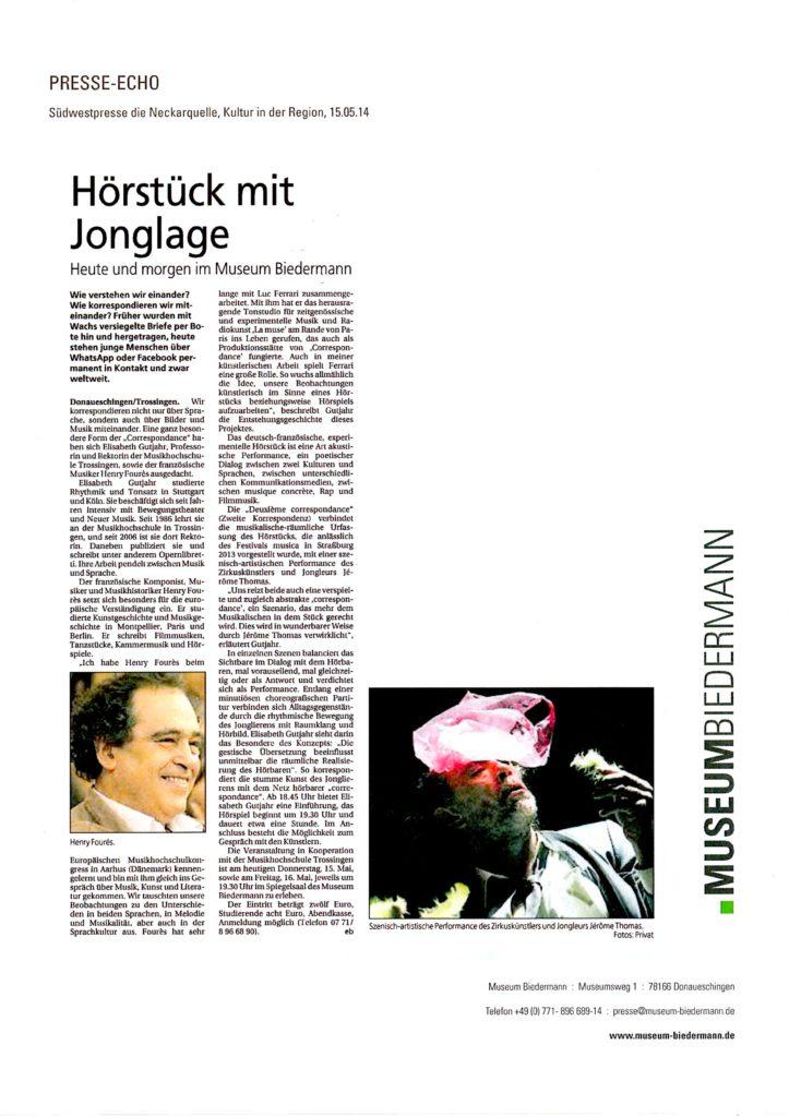 Presse Donaueschingen 1